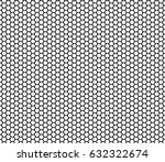 seamless honeycomb pattern... | Shutterstock .eps vector #632322674