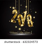 happy new year and merry... | Shutterstock .eps vector #632324573