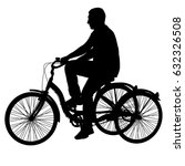silhouette of a tricycle male... | Shutterstock .eps vector #632326508