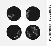 set of round grunge textures.... | Shutterstock .eps vector #632328968