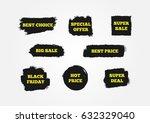 best choice  hot price  black... | Shutterstock .eps vector #632329040