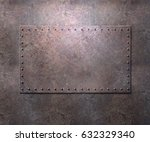 metal texture with plates and... | Shutterstock . vector #632329340