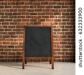 blackboard menu inside a room... | Shutterstock . vector #632333900