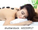 beauty woman in spa with broun... | Shutterstock . vector #63233917