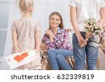 mother and children parenting... | Shutterstock . vector #632339819