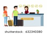 receptionist at a reception... | Shutterstock .eps vector #632340380