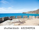 view of historic fort structure ...   Shutterstock . vector #632340926