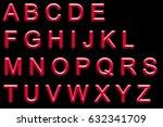 alphabet neon printed | Shutterstock . vector #632341709