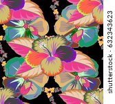 seamless pattern with cute... | Shutterstock . vector #632343623