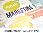 email marketing concept design. ... | Shutterstock . vector #632344190
