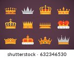 collection of crown icons... | Shutterstock .eps vector #632346530