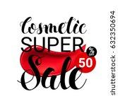 makeup lipstick smear cosmetics ... | Shutterstock .eps vector #632350694