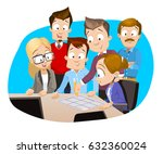 cartoon vector illustration of... | Shutterstock .eps vector #632360024