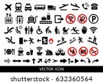 simple airport icons set.... | Shutterstock .eps vector #632360564