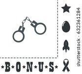 handcuffs. simple flat symbol... | Shutterstock .eps vector #632361284