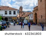 streets of cusco peru south... | Shutterstock . vector #632361803