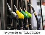 closeup of the fuel pistols on... | Shutterstock . vector #632366306