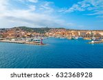 view the town of la maddalena... | Shutterstock . vector #632368928