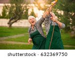 senior couple having fun... | Shutterstock . vector #632369750