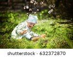 small cute toddler girl in...   Shutterstock . vector #632372870