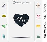 cardiogram icon vector | Shutterstock .eps vector #632372894