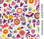seamless pattern with... | Shutterstock .eps vector #632375390