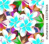 vector flower seamless pattern... | Shutterstock .eps vector #632378666
