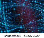 cyber virtual space technology... | Shutterstock . vector #632379620
