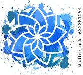 simple geometric mandala.... | Shutterstock .eps vector #632381594
