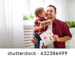 father's day. happy family... | Shutterstock . vector #632386499