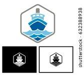 ship logo | Shutterstock .eps vector #632388938