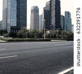 empty asphalt road of a modern... | Shutterstock . vector #632391776