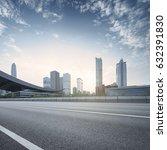 empty asphalt road of a modern...   Shutterstock . vector #632391830