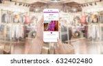 girl shopping online on