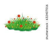 isolated scrub whit flowers on... | Shutterstock .eps vector #632407016