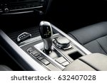 automatic gear stick of a... | Shutterstock . vector #632407028