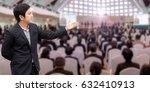 businessman standing welcome... | Shutterstock . vector #632410913