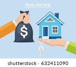 buying a house. real estate and ... | Shutterstock .eps vector #632411090