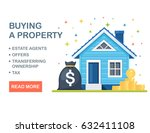 buying a house  property. real... | Shutterstock .eps vector #632411108