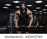 handsome man with big muscles ... | Shutterstock . vector #632412764