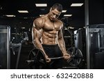 handsome man with big muscles ... | Shutterstock . vector #632420888