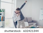 young businessman is having a... | Shutterstock . vector #632421344