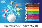 16 9 vector infographic... | Shutterstock .eps vector #632425718