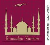 ramadan kareem. cut out of a... | Shutterstock . vector #632429594