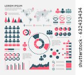 big set of infographics... | Shutterstock .eps vector #632433434