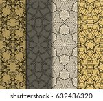 set of modern floral pattern of ... | Shutterstock .eps vector #632436320