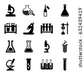 lab icons set. set of 16 lab... | Shutterstock .eps vector #632439419