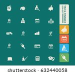 tax and finance icon set clean... | Shutterstock .eps vector #632440058