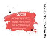 quote text bubble. commas  note ... | Shutterstock .eps vector #632441654