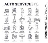 Auto Service Concept. Thin Lin...